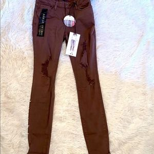 Chocolate Brown Jeans (Ankle Skinny)
